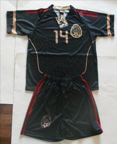 size 40 90290 a049d JAVIER HERNANDEZ CHICHARITO Kid's BLACK Mexico Uniform ...