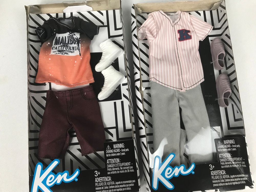Barbie Ken Fashionista Doll Clothing Lot Shirts Pants Shorts New