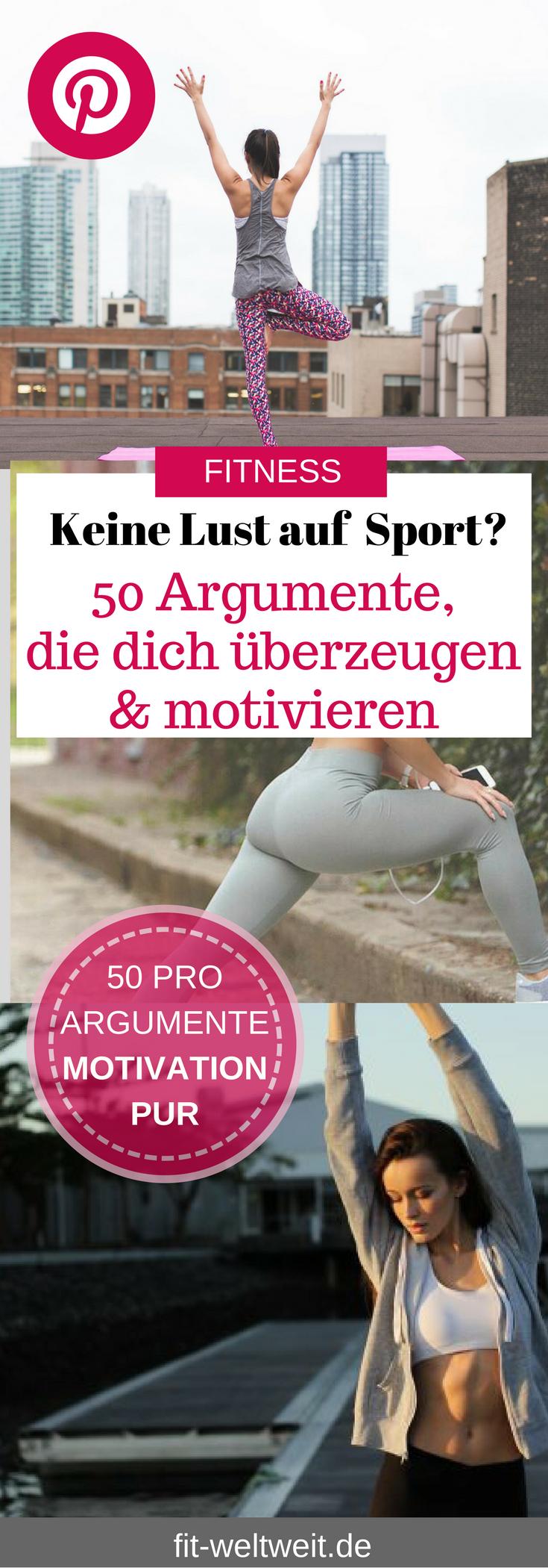 Fitness im Alltag: 50 Gründe und Sport Pro Argumente, warum du unbedingt trainieren solltest.