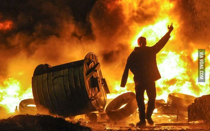 From Ukraine. The most bad ass photo I have seen from a riot