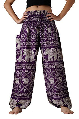 Bangkokpants Women's Yoga Pants Boho Elephant Design Purp... https://www.amazon.com/dp/B00Z0BXPQA/ref=cm_sw_r_pi_dp_x_V0CCybH76J4ZD