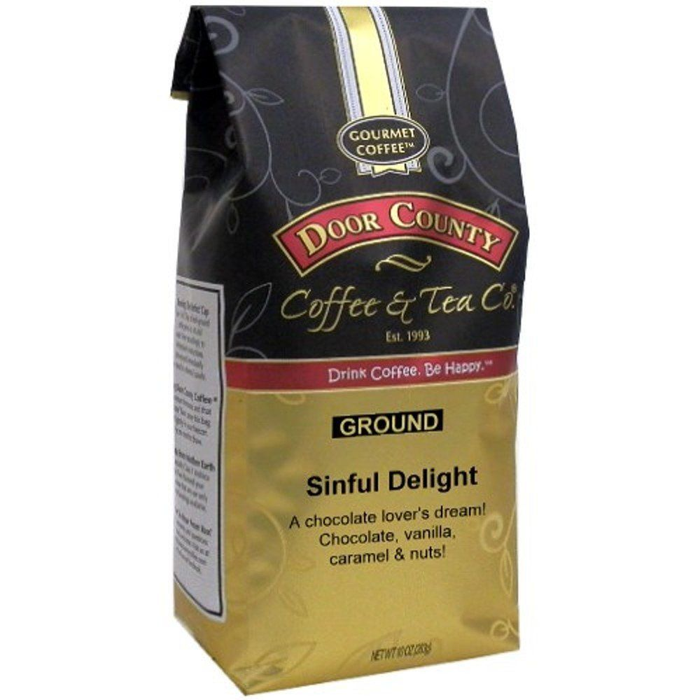 Door County Coffee Sinful Delight 10oz Ground You Can Get Additional Details At The Image Link This Coffee Flavor Breakfast Blend Peanut Butter Crunch