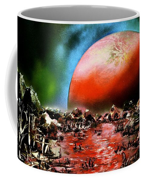 Printed with Fine Art spray painting image The Other Land Nandor Molnar (When you visit the Shop, change the size, background color and image size as you wish)