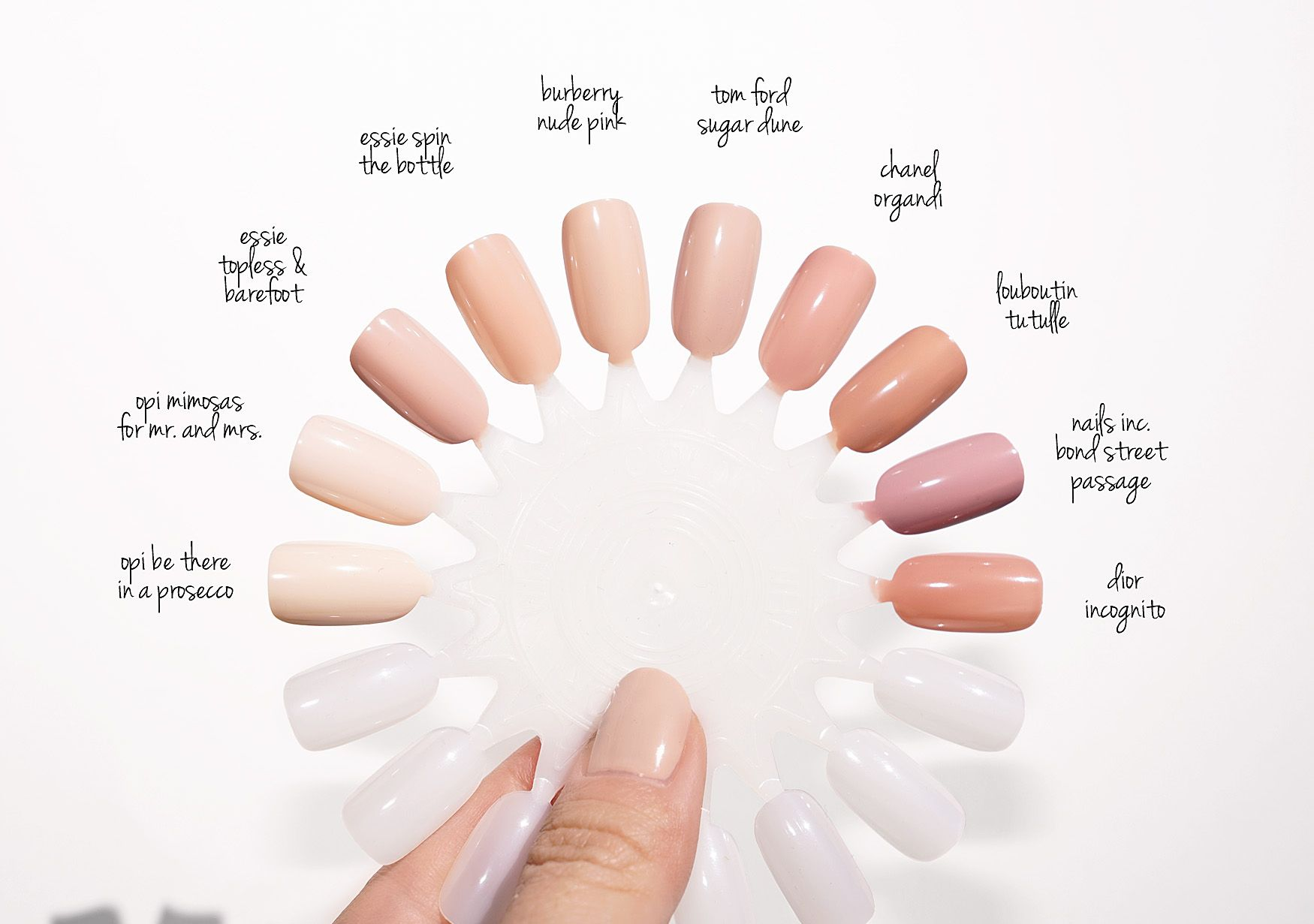 Neutral Nail Polish Swatches | The Beauty Look Book | Nails ...