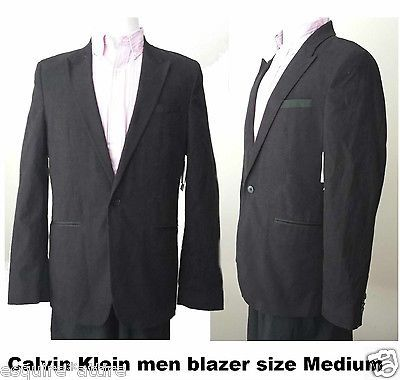 Calvin Klein men size M slim fit black #cotton blazer (one button style) ($149) CalvinKlein visit our ebay store at  http://stores.ebay.com/esquirestore