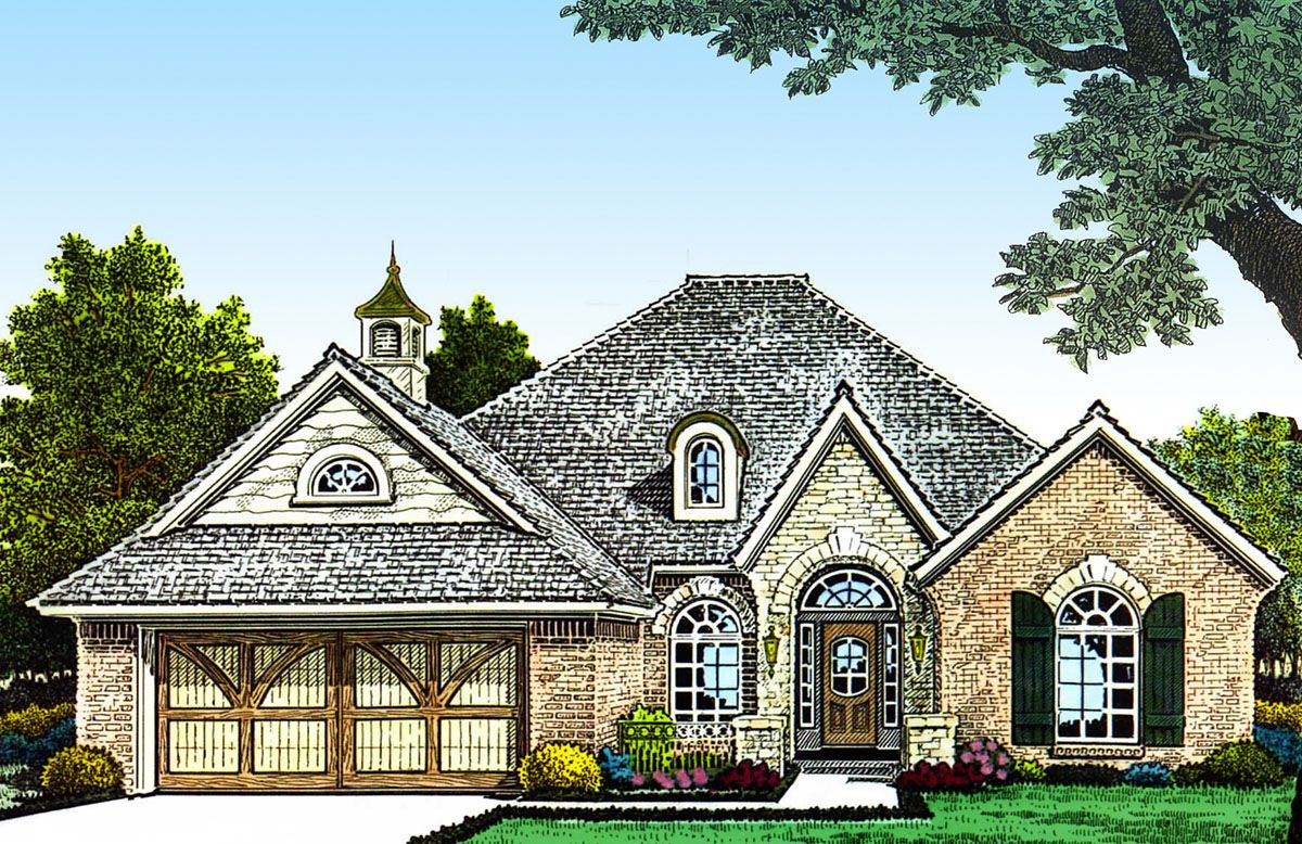 Plan 48312fm Narrow Lot European Home Plan French Country House Plans House Plans Architectural Design House Plans