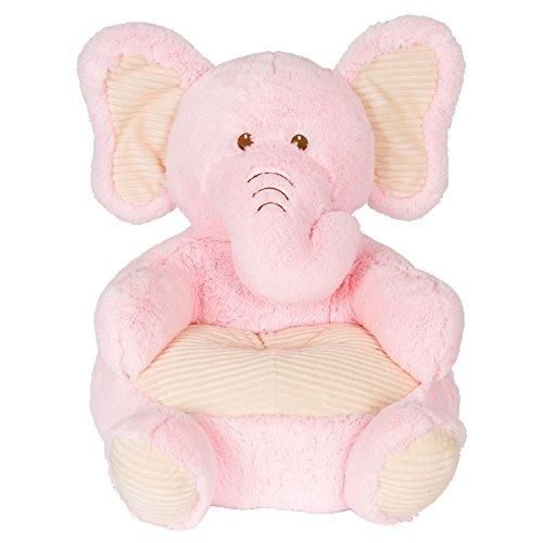 Kellytoy Baby Soft Plush Pink Elephant Childrens Chair With Corduroy Trim18