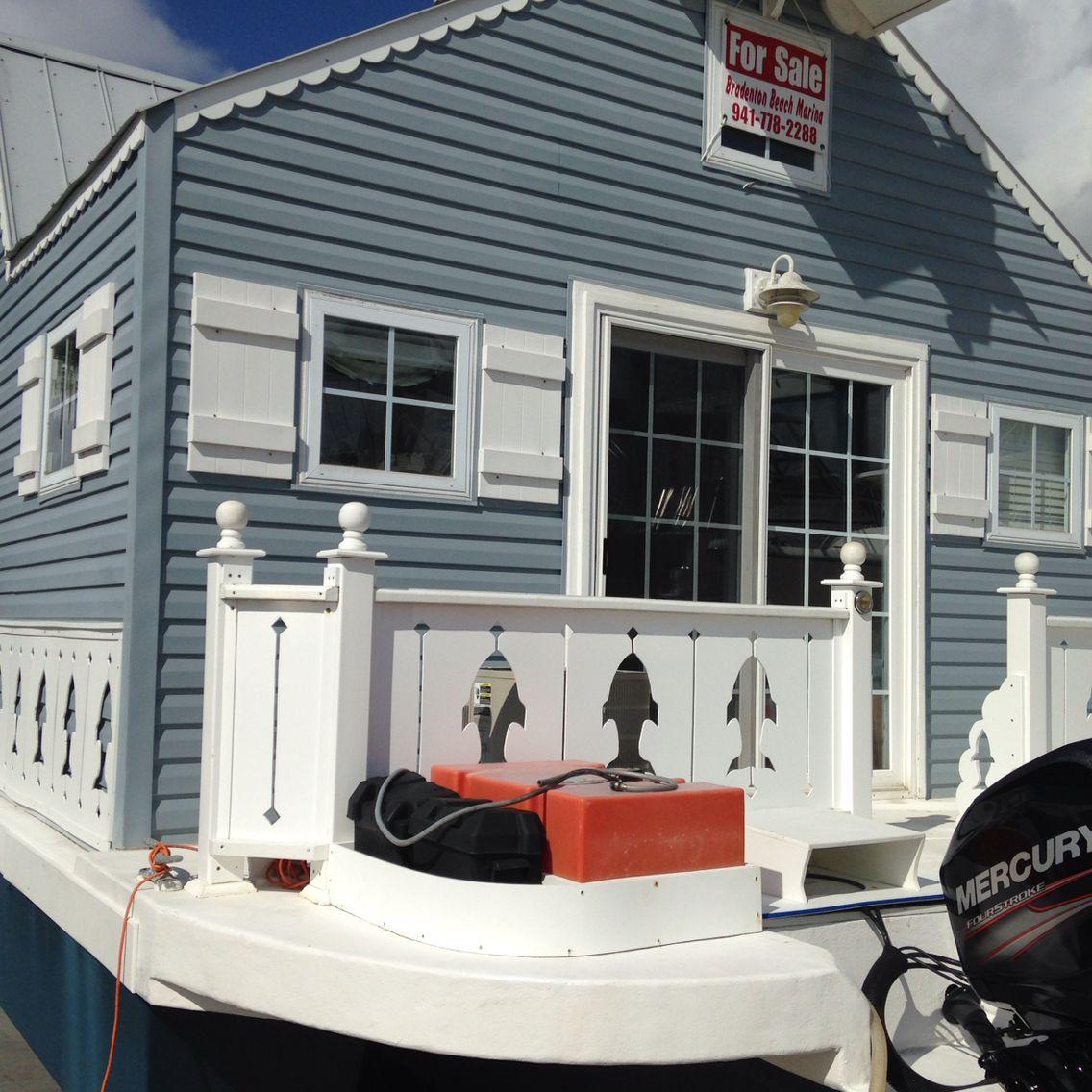 Tiny House Boat Pontoon Boat Bradenton Beach Florida Floating House House Boat Bradenton Beach Florida