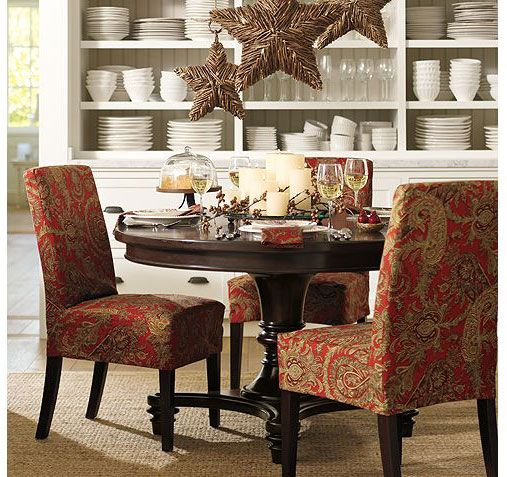 20 Small Dining Room Ideas On A Budget: Lovely Dining Room With Huge Hutch And Comfy Chairs
