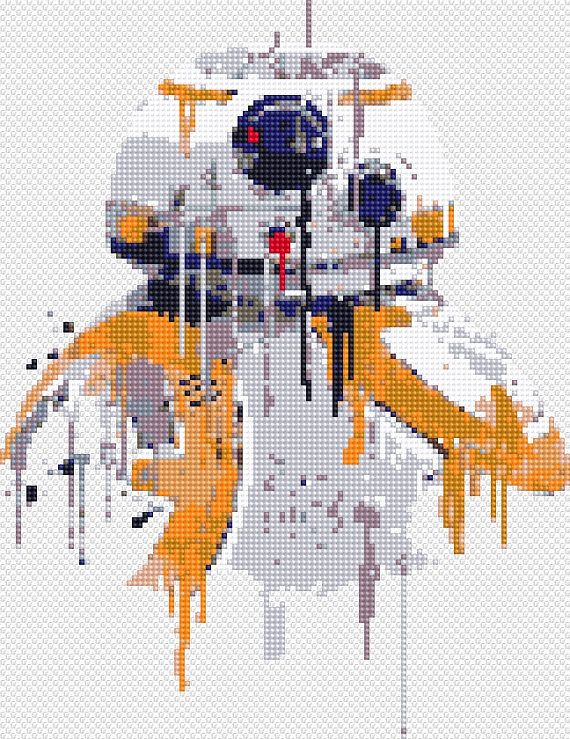 Star Wars Cross Stitch Pattern Stormtrooper Bb 8 Boba Fett Counted