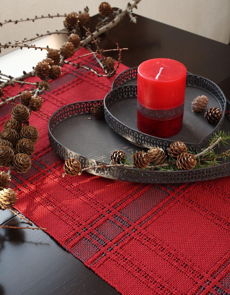 Hyvää Joulua 2015! Punainen vahva pellavalanka on tämän joulun juttu! Joulutähti -liina 3541 Mallikerta nro 4/2015.
