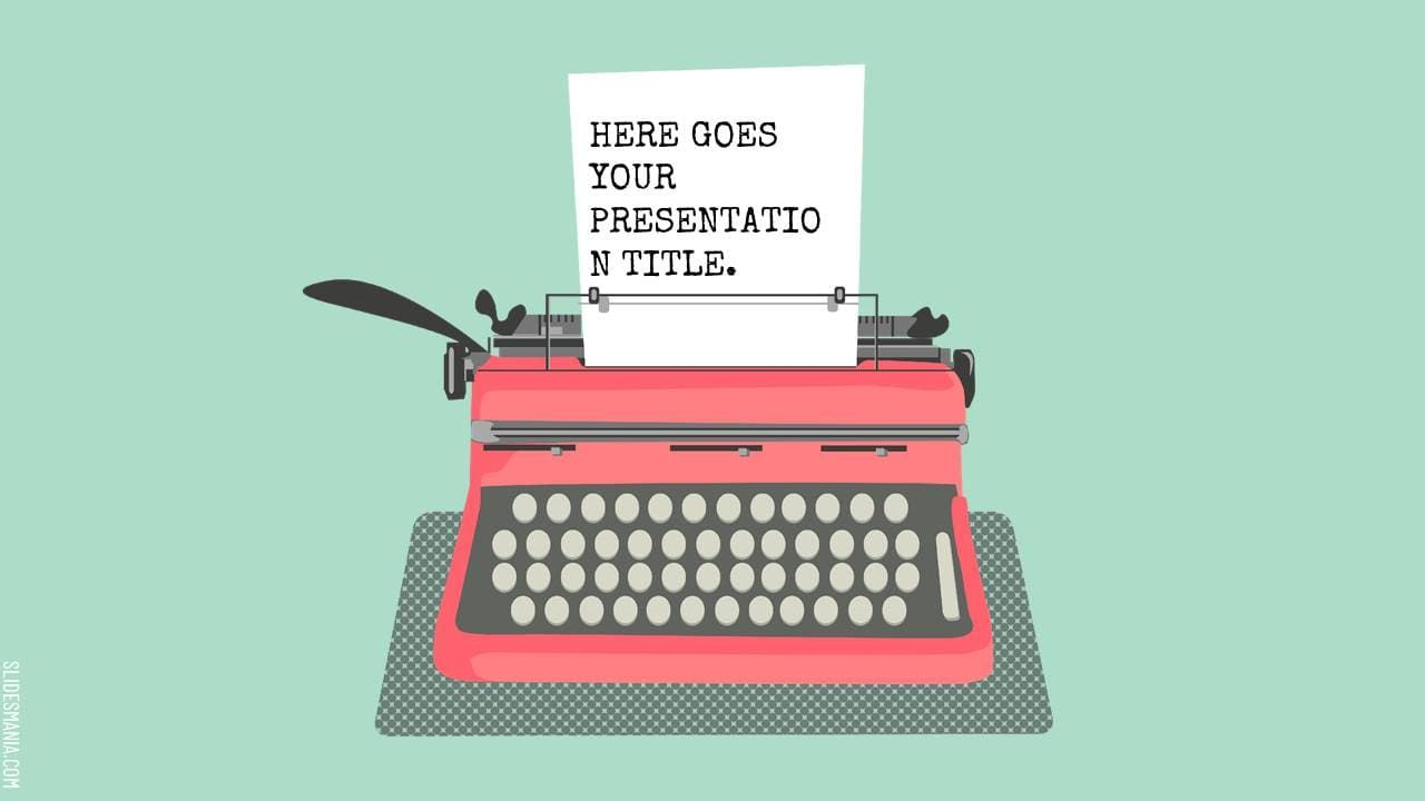 قالب الطابعة القديمة مميزة لتقديم جميع العروض التقديمية Electronic Products Typewriter