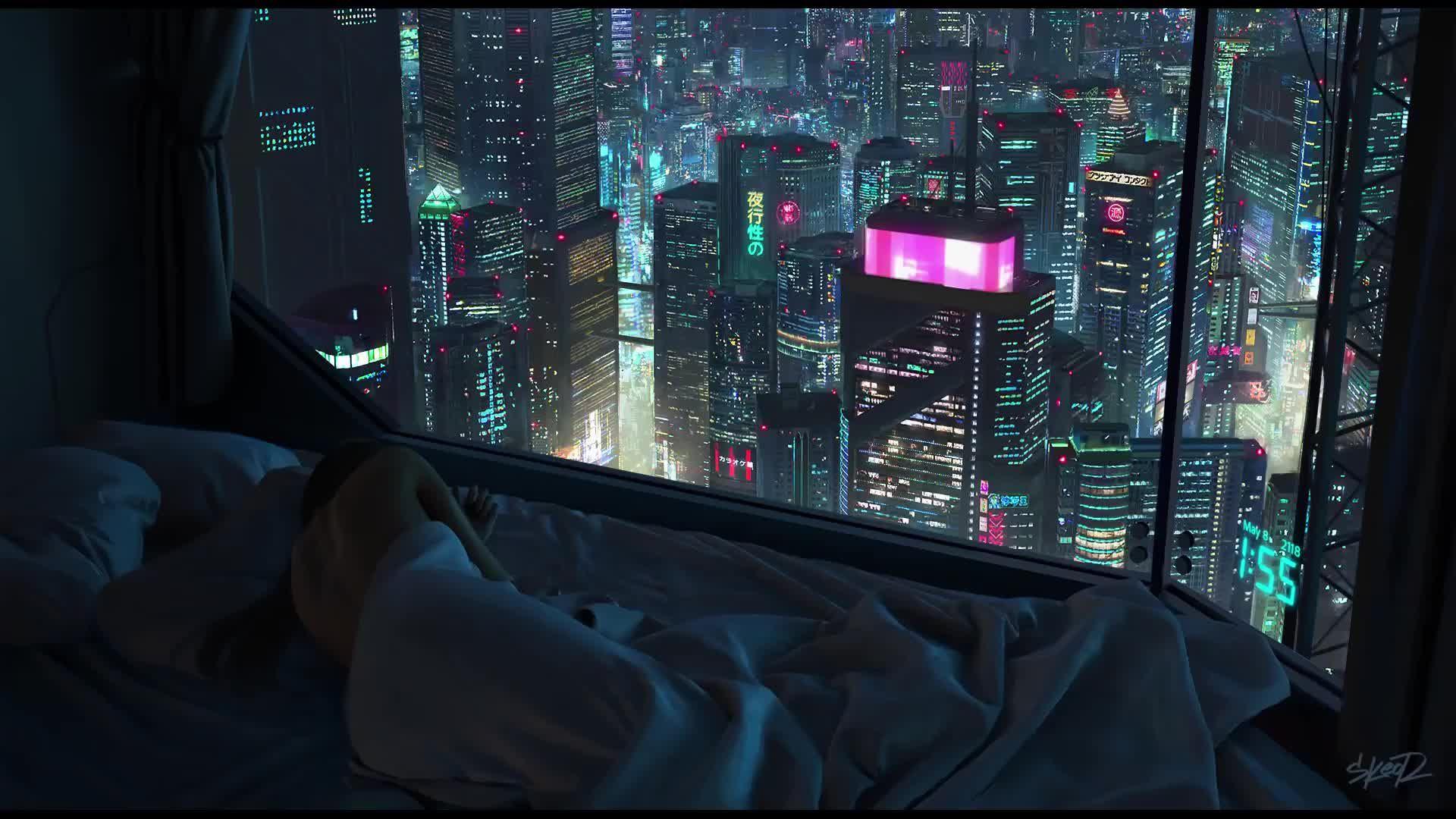 Cyberpunk City Night Time Hd Live Wallpaper Cyberpunk City Cyberpunk Aesthetic Futuristic City