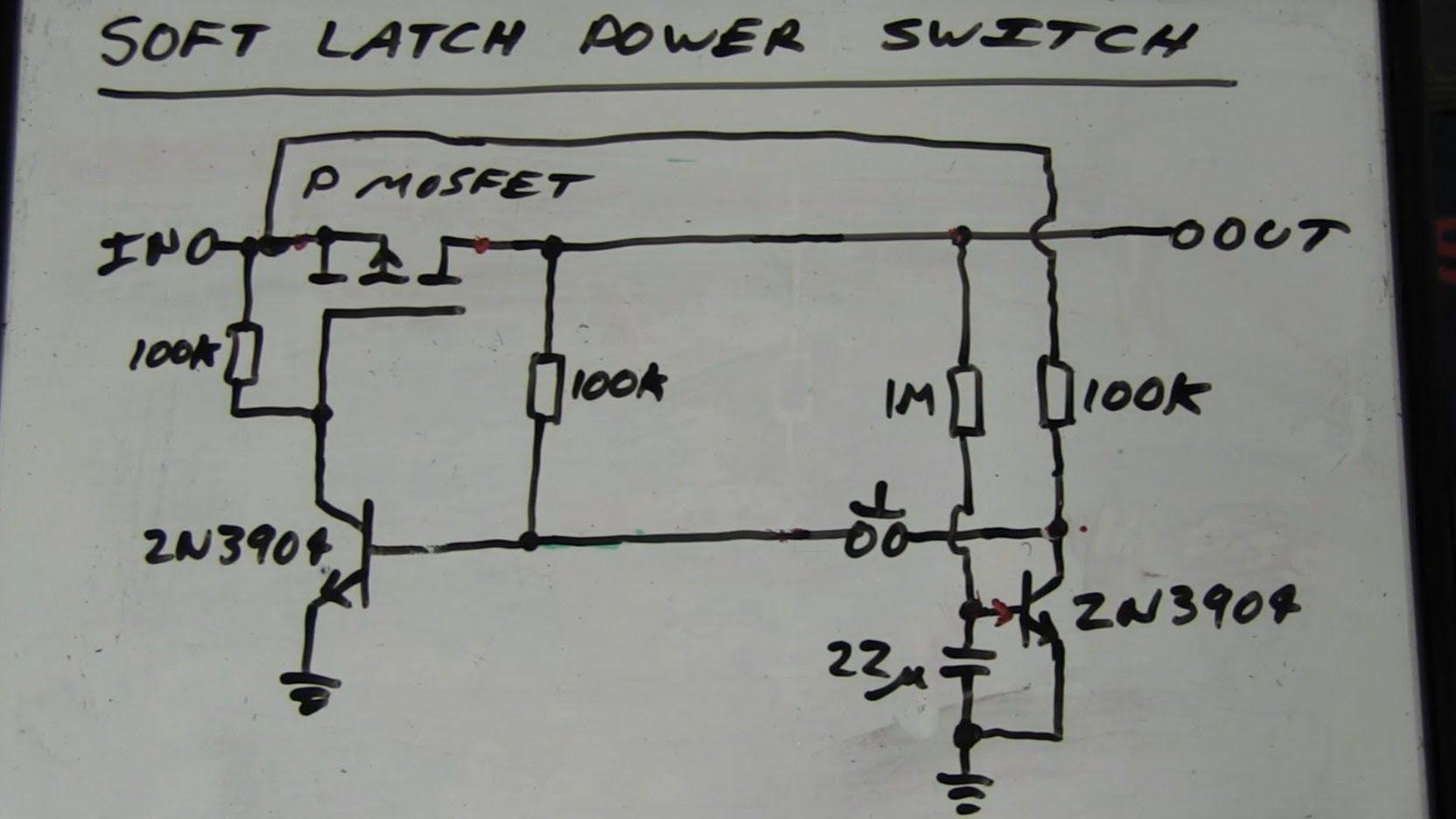 medium resolution of eevblog 262 world s simplest soft latching power switch circuit