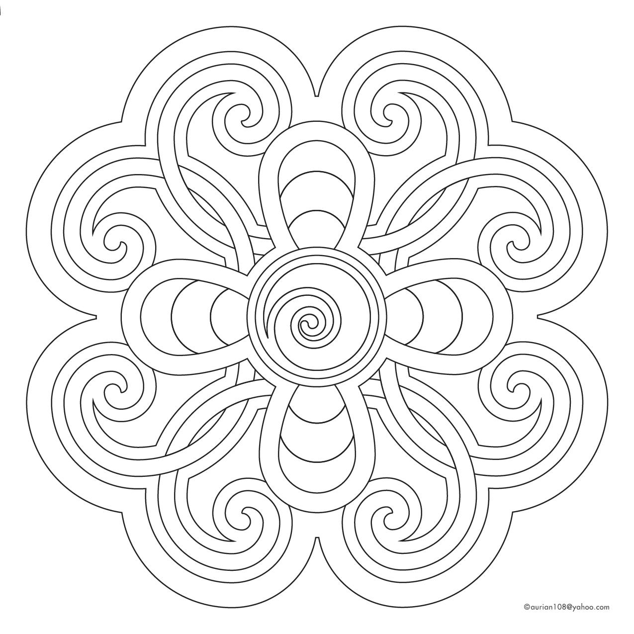 Free Coloring Mandala 328153   Mandala and Coloring pages ...