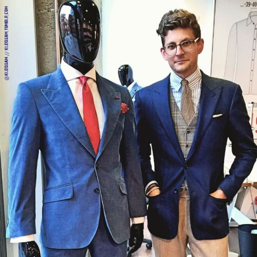 http://chicerman.com  kleidsam:  Hanging with my buddy and the peeps over at @sonsofsavilerow. Next: Burger at @whatsbeef and some drinks to spill em down. #menswear #mensweardaily #ootd #wiwt #style #fashion #instastyle #instafashion #sosr #mtm #madetomeasure  #MENSUIT #TAILORSUIT