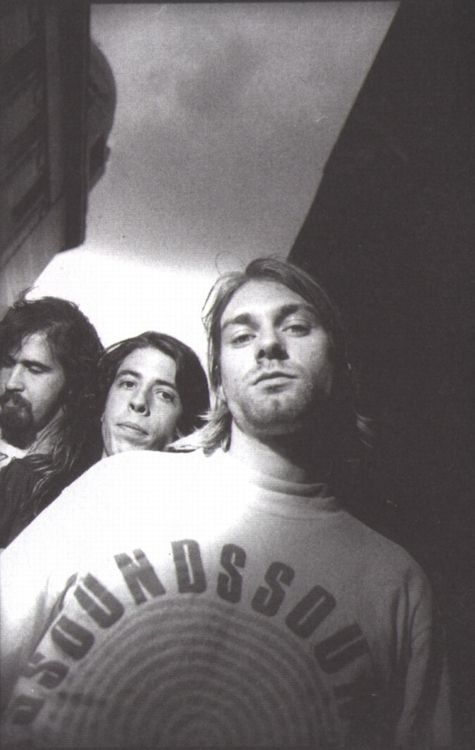 """I'm Kurt. I play guitar and I sing.""   ""I'm Dave and I play drums and I sing sometimes but not that often.""  ""I'm Krist and I play bass and I don't sing. Thank God!""  - Nirvana"