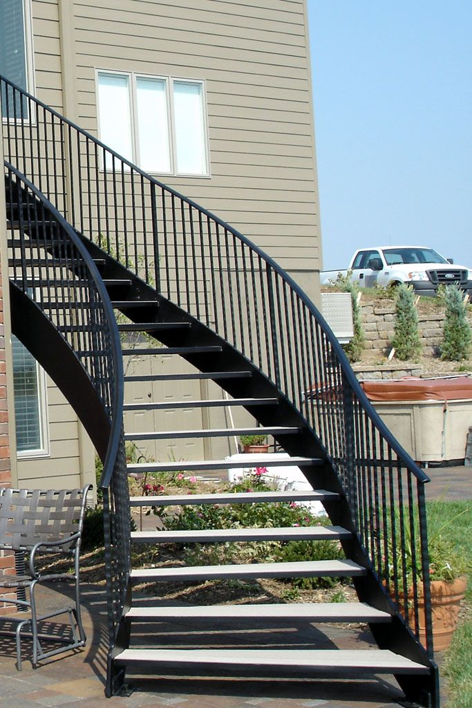 Best Curved Metal Staircase Curved Metal Stairs Metal 400 x 300