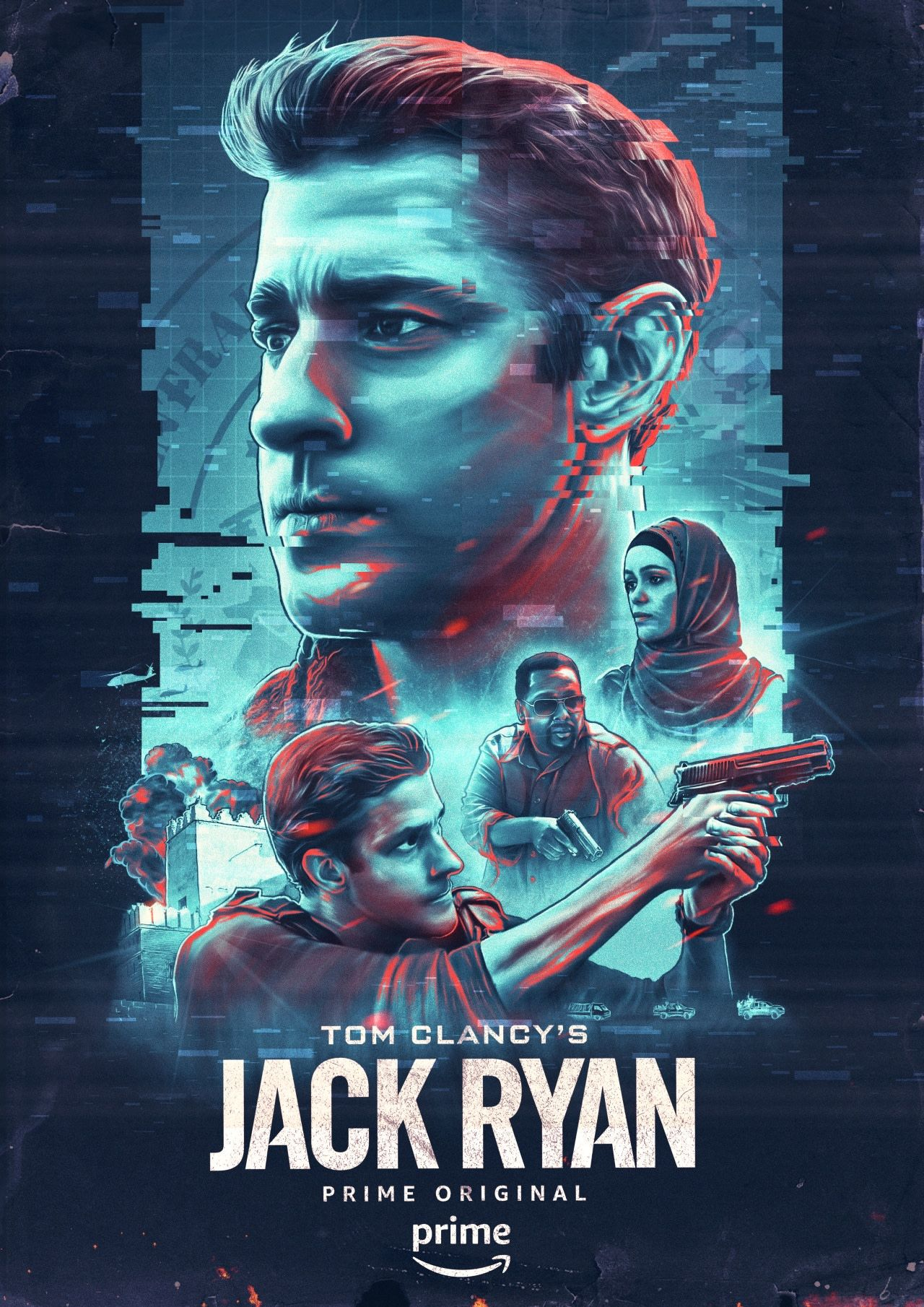 Create oneofakind artwork for jack ryan film poster