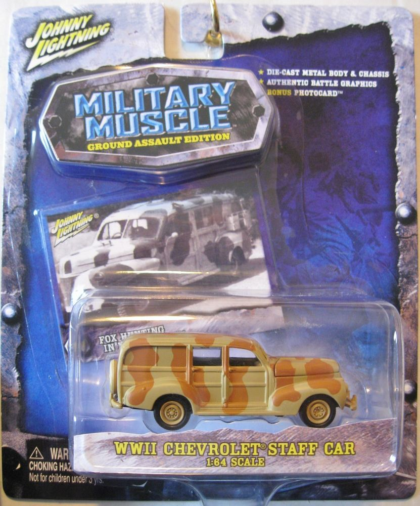 "JOHNNY LIGHTNING ""MILITARY MUSCLE GROUND ASSAULT EDITION"" WW11 CHEVY STAFF CAR"