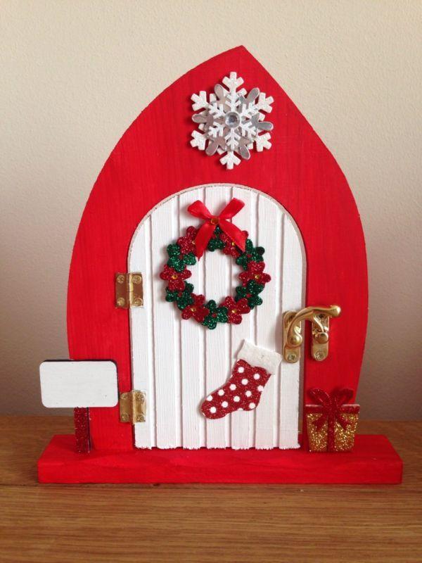 large opening christmas elf fairy door free standing christmas door christmas ornaments - Free Standing Christmas Decorations