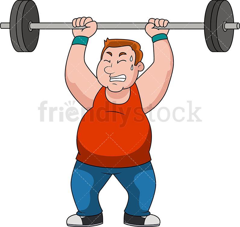 fat sweaty man