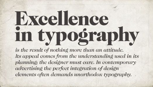 typography settings for InDesign