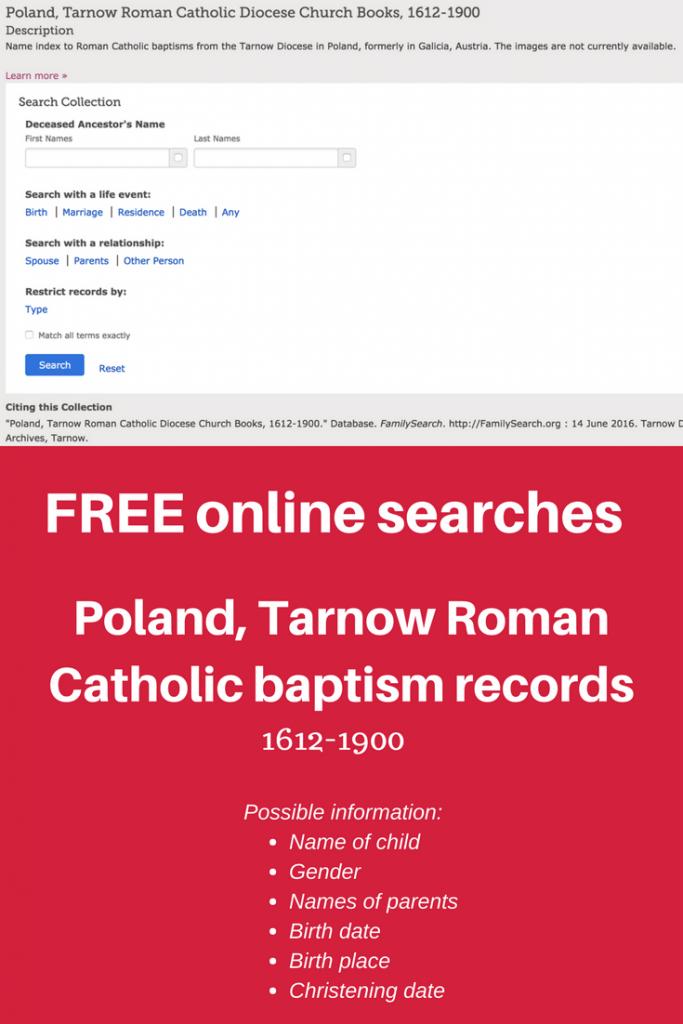 Poland, Tarnow Roman Catholic Church Books, 1612-1900 | Poland