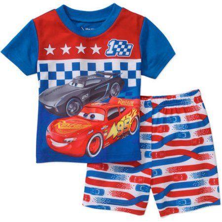 Disney Store Pixar Cars Boys 2 Piece Pajama Short Set New