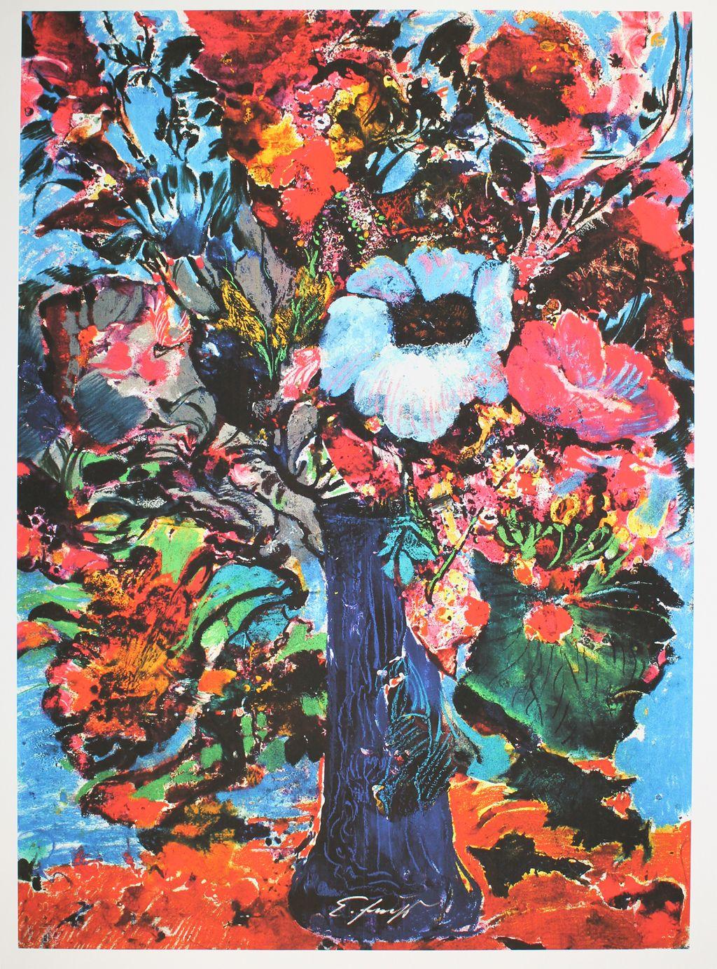 Ernst Fuchs - Bunter Blumenstrauß