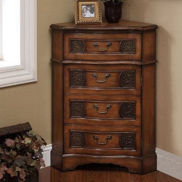 Cadiz Wooden Corner Accent Cabinet Accent Cabinet Corner