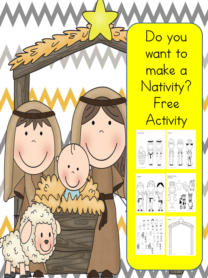do you want to build a nativity fun free cutpaste
