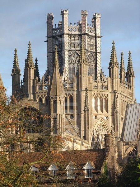 la catedral de Ely, La torre del octágono, Cambridgeshire, Inglaterra ~ siglo 11