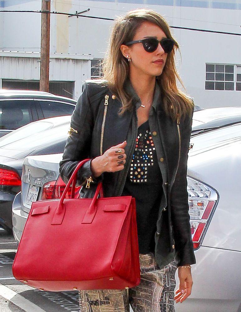 Jessica-Alba-Saint-Laurent-Large-Sac-de-Jour   Handbag Heaven   Bags ... 60a5c2529f