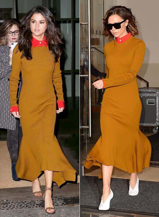 a1a1166cbd0 Selena Gomez y Victoria Beckham con el mismo vestido