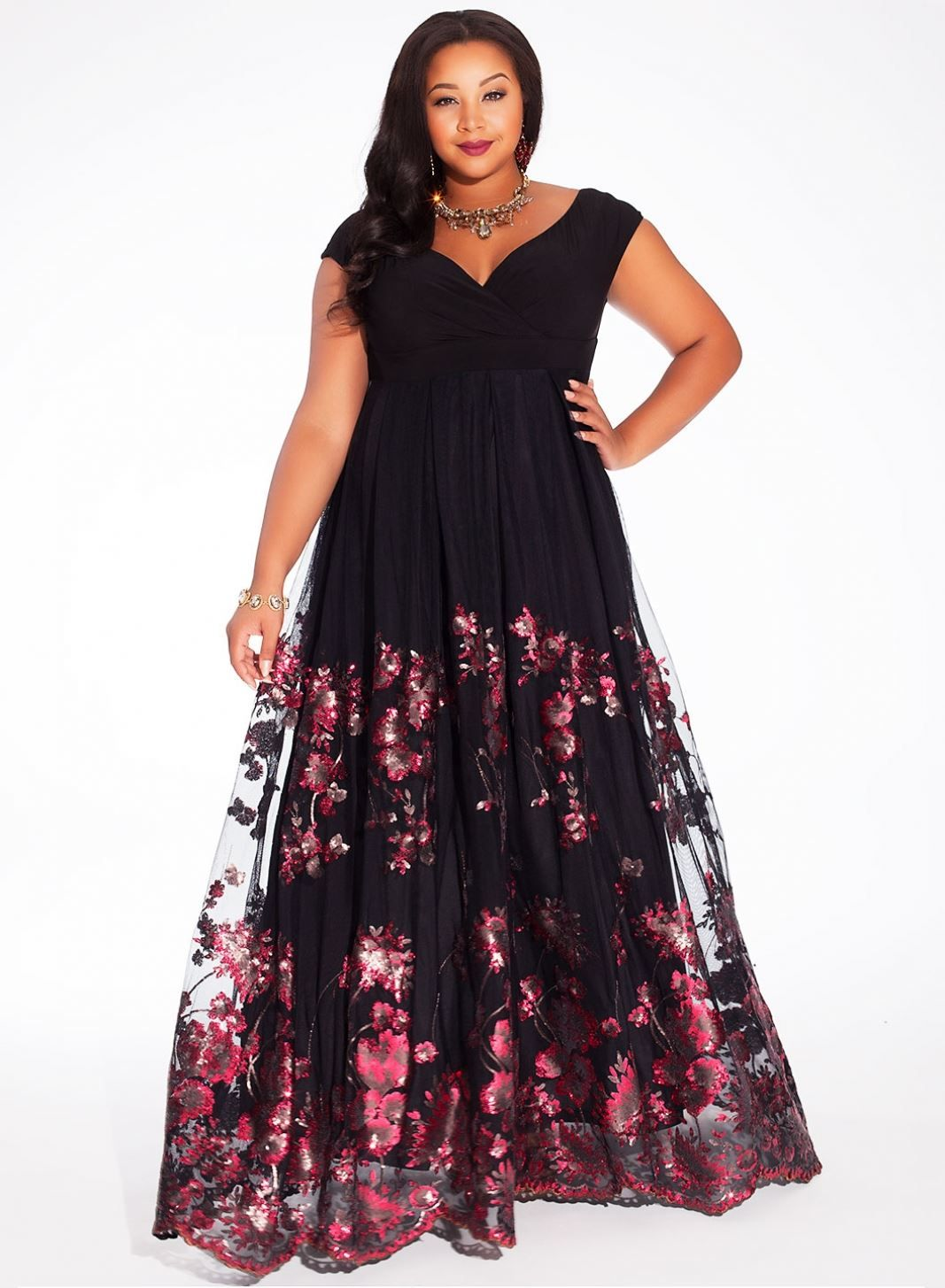 Lakshmi Gown in Merlot | Plus Size Special Occasion Dresses ...