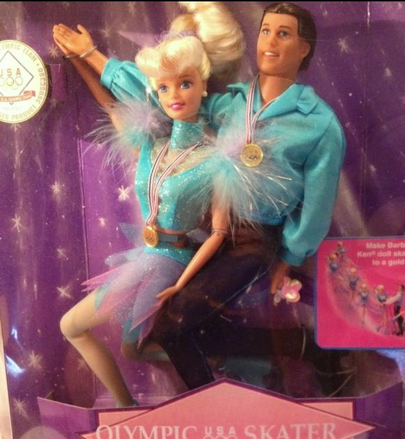 Olympic Figure Skaters Barbie and Ken