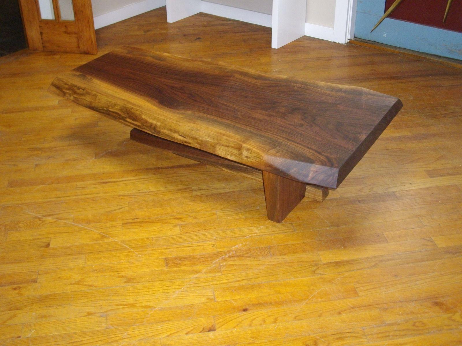 Custom Made Live Edge Coffee Table   walnut slab   Pinterest ...