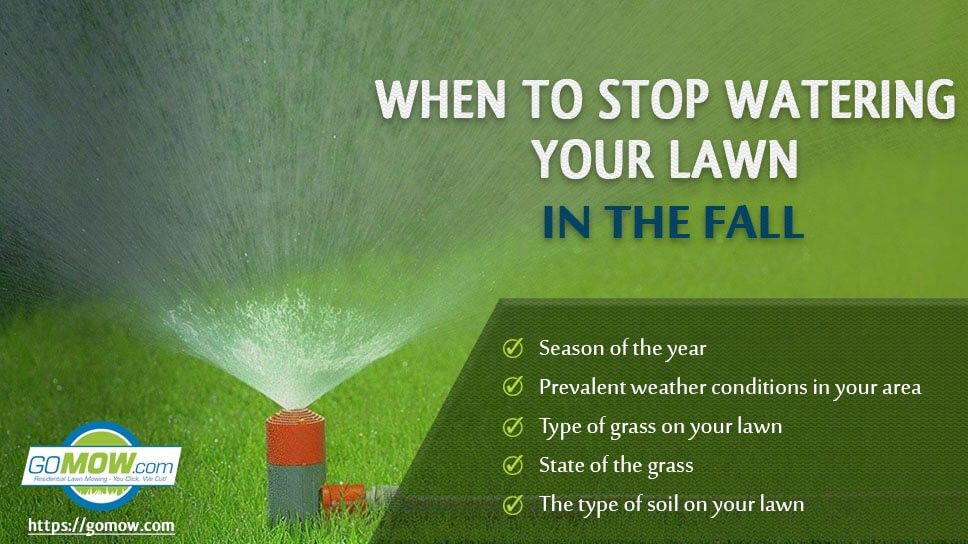 Regular watering is one of the fall lawn care practices every lawn owner must see as mandatory  is part of lawn Maintenance Water - However, the unasked question most lawn owners don't ask is when is it best time to stop watering your lawn