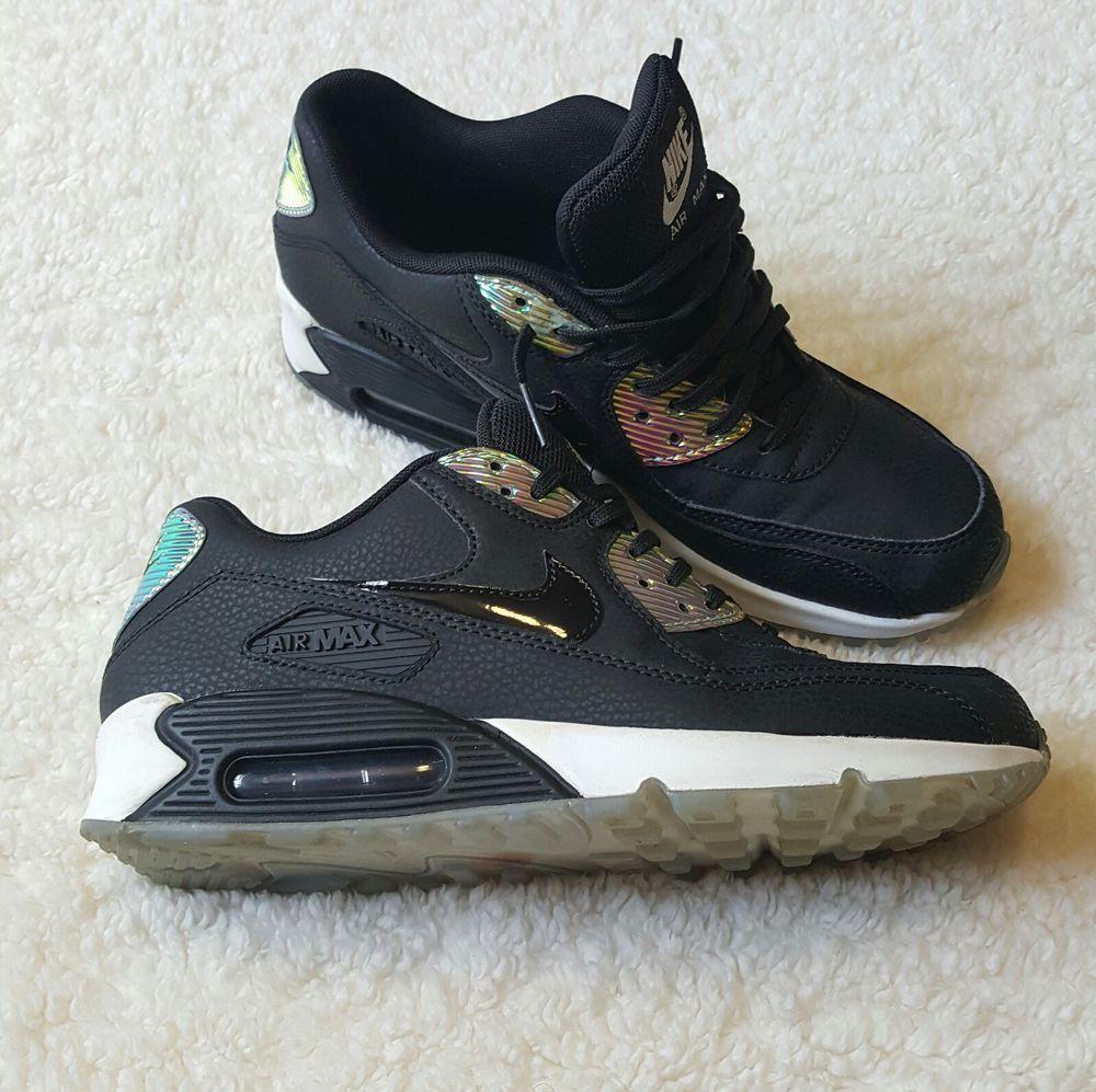 4c5c20e1a84c Nike Air Max 90 Premium Women s Sneakers Size 8.5 Black Pure Platinum  443817-008  NIKE  airmax  kicks  sneakergame  sneakers  running  jogging    ...