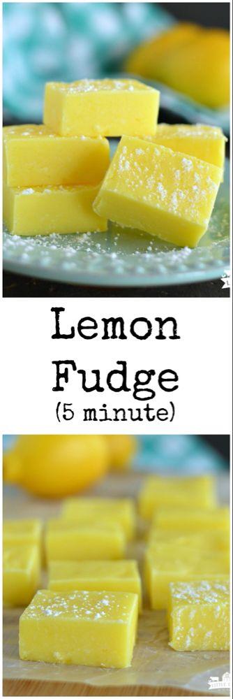 Lemon Fudge {Five Minute} | Little Dairy On the Prairie