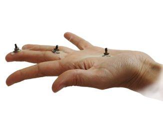 Drei Punkte Hand