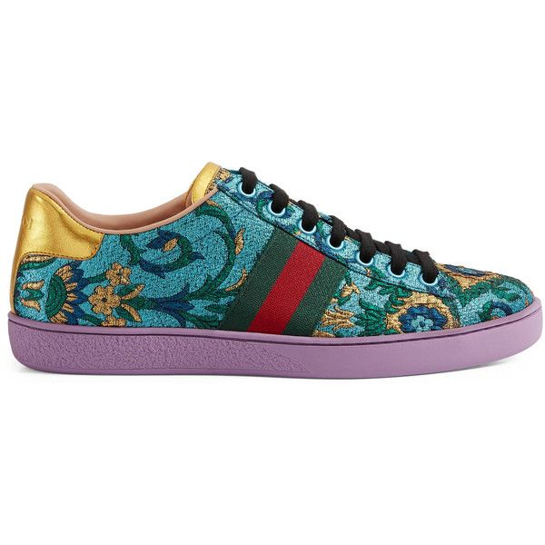 0c55c86cf7c Gucci Ace Brocade Low-Top Sneaker (781 245 LBP) ❤ liked on Polyvore  featuring shoes