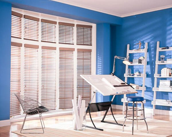 Faux Blinds Have The Great Look Of Wood Blinds With The Capability Of Enduring Humid Rooms Like A Kitchen Or Faux Wood Blinds Blinds Design Living Room Blinds