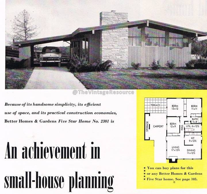 Better Homes Gardens Five Star Home 2301 1953 Almost The Perfect Home Layout Split Level House Plans Vintage House Plans Mid Century Modern House Plans