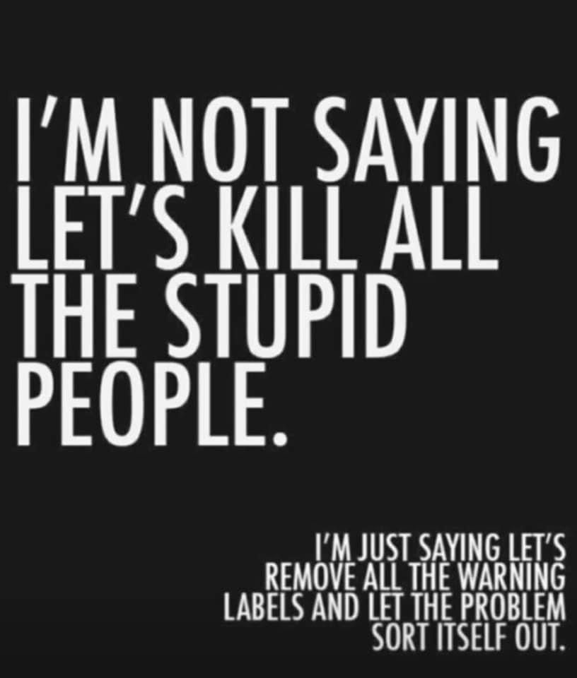 I'm not Saying Let's Kill All the Stupid People.