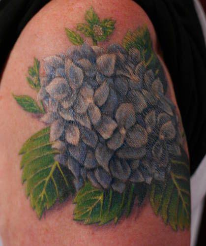 Aw, makes me think of my Gramy - Hydrangea Flower Tattoo