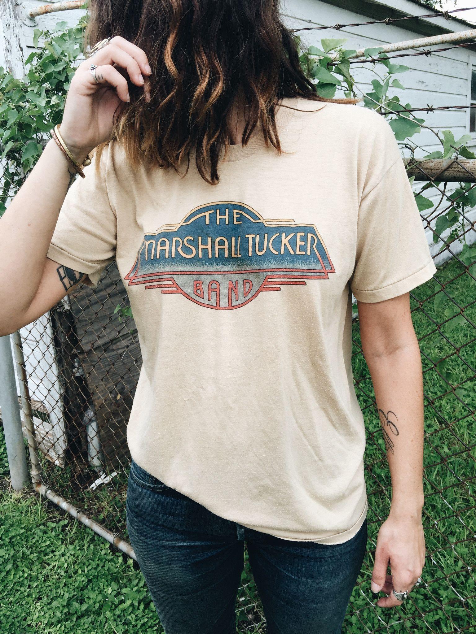 Vintage Band Tee Shirt   1980s The Marshall Tucker Band