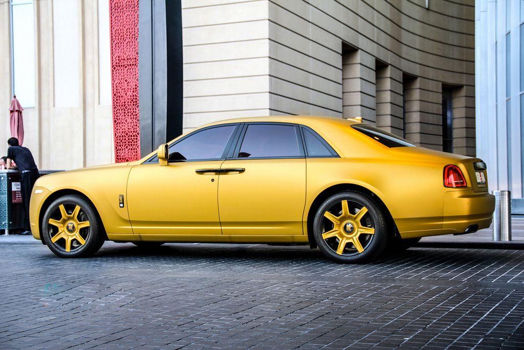Matt Gold Rolls royce, Car pictures, Bmw car