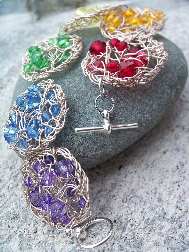 Wonderful Diy Wire Crochet Jewelry Free Pattern Wire Crochet